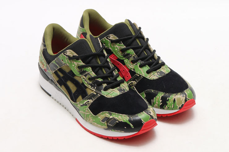 END. Features | ASICSTIGER x Atmos GEL LYTE III Green Camo