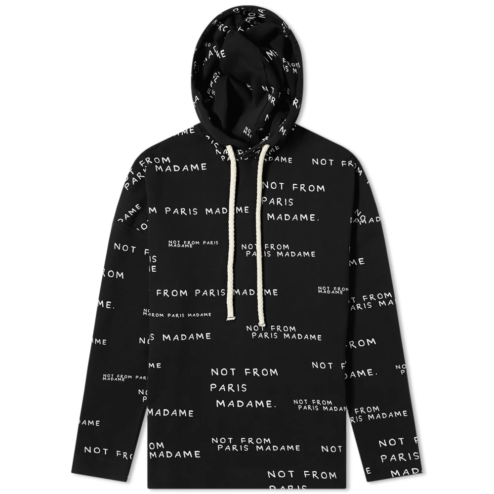 Drôle de Monsieur Not From Paris All Over Print Popover Hoody