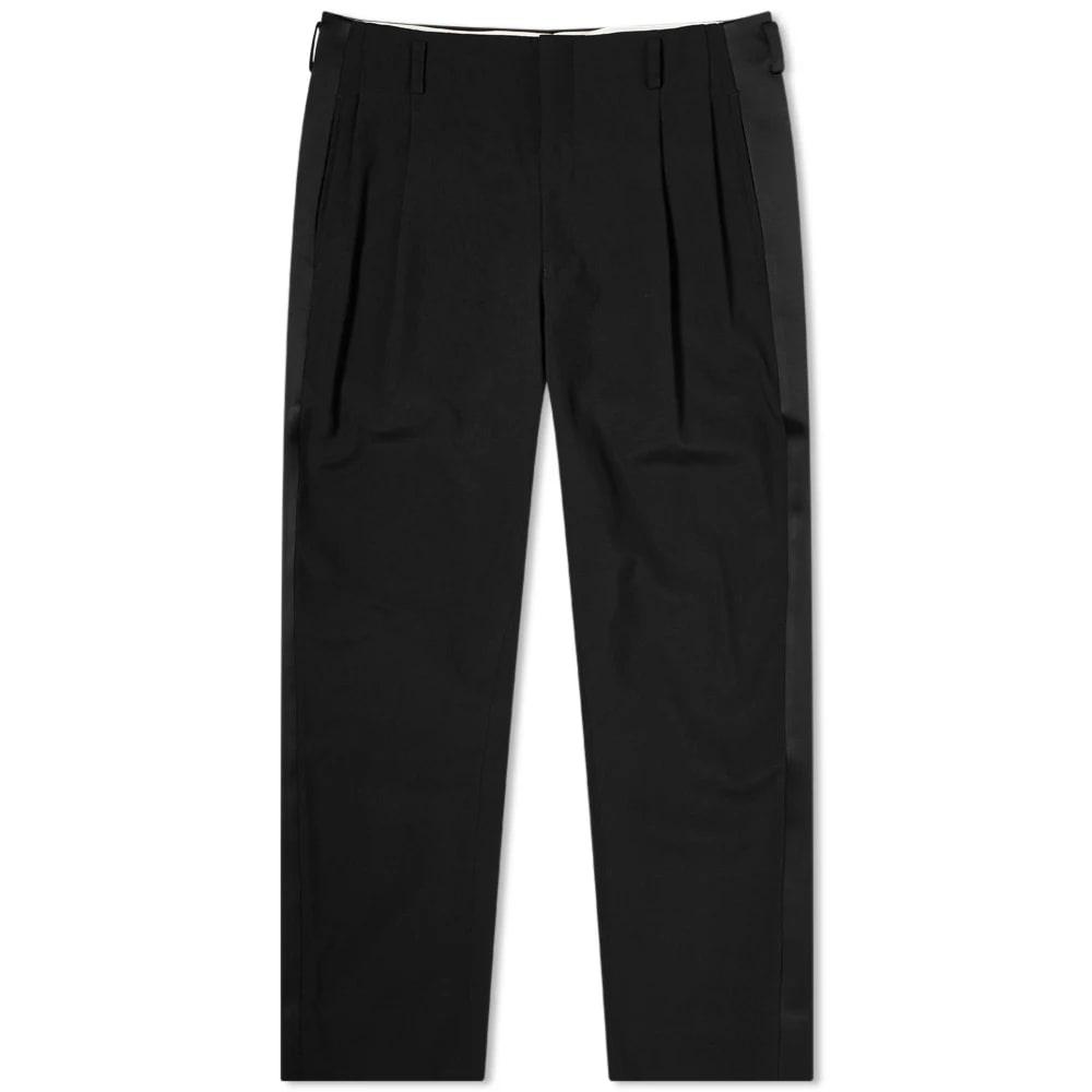 Comme Des Garçons Homme Plus Cropped Satin Stripe Wool Pant