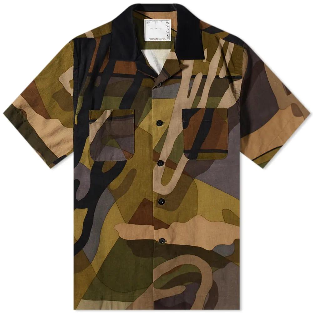 Sacai x KAWS Short Sleeve Corduroy Shirt