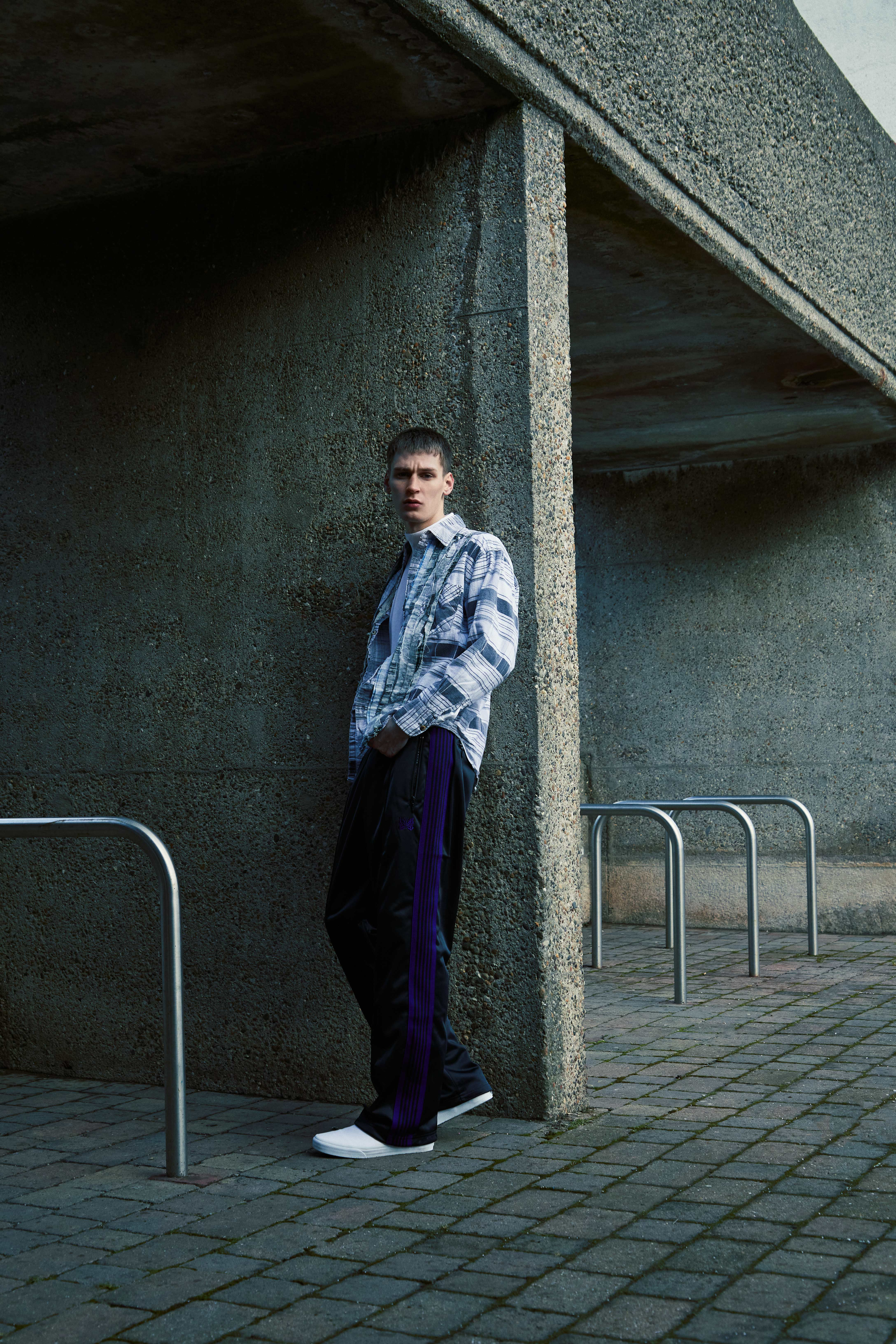END. Required Item SS21: Track Pants - Model wears Needles Tricot sweatpants