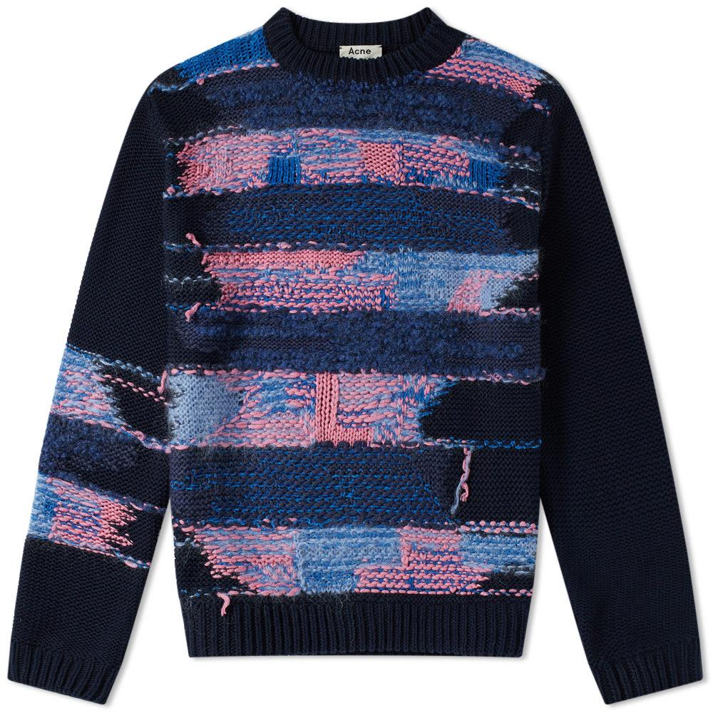 Irregular Stripe Knit Sweat