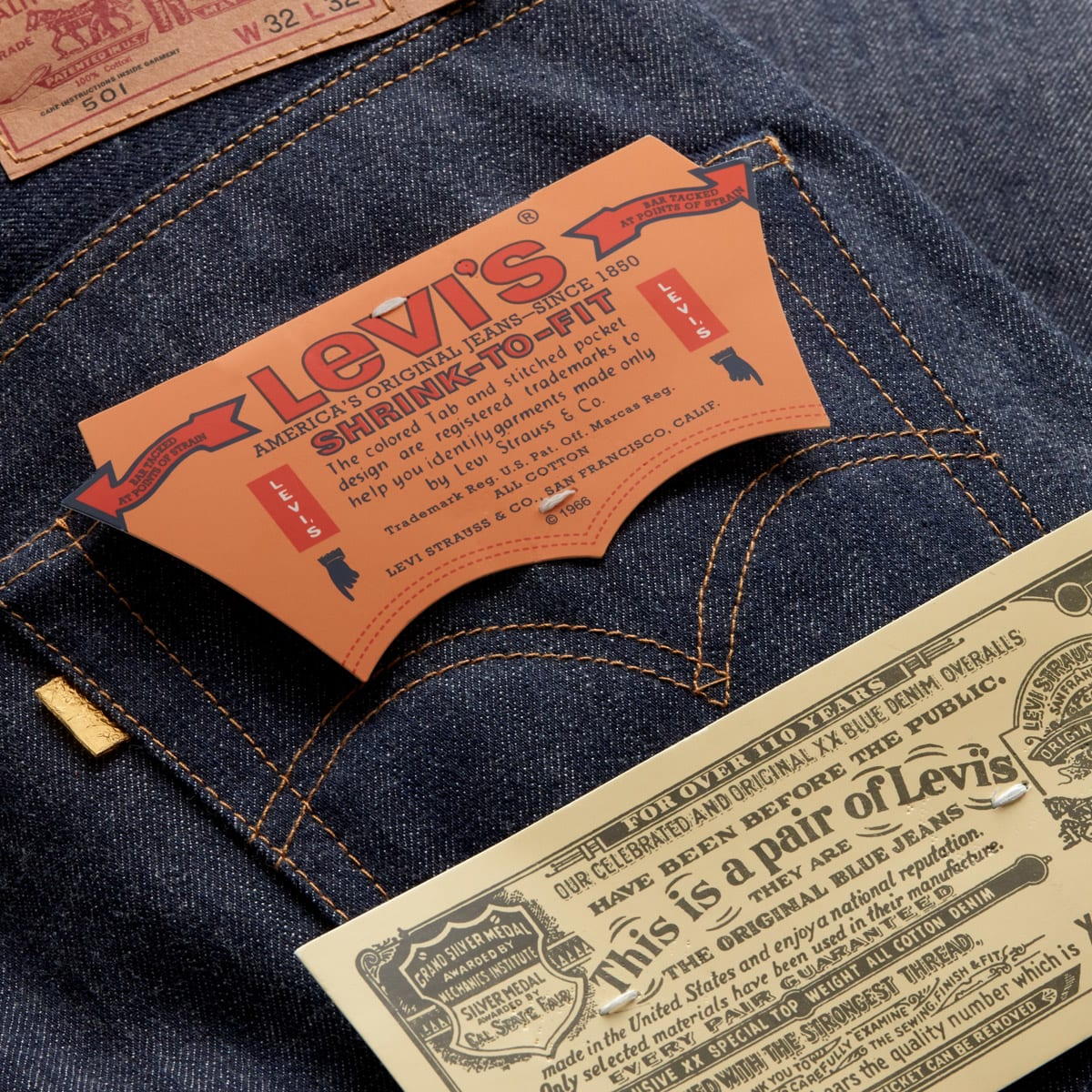 Levi's Cone Mill 501 'Golden Ticket' Jean - 26865-0000