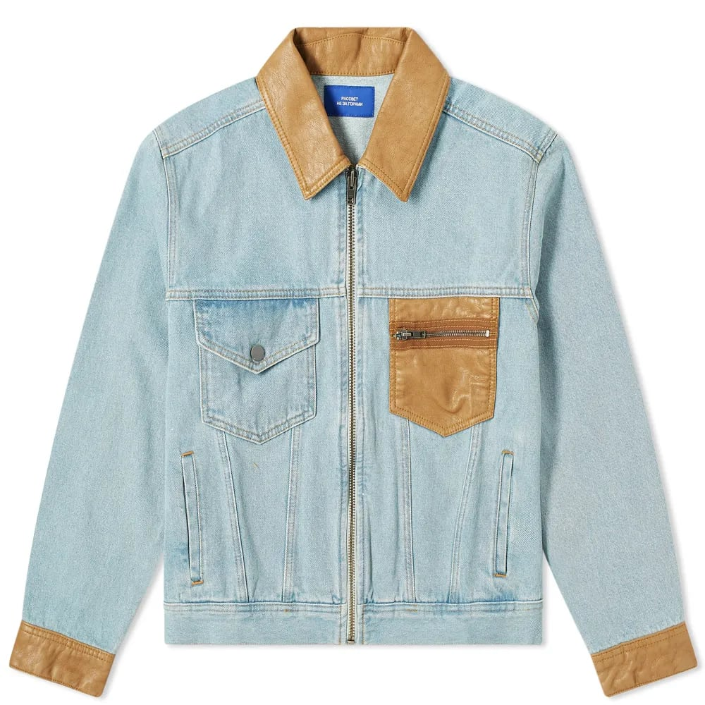 PACCBET Light Wash Denim Jacket