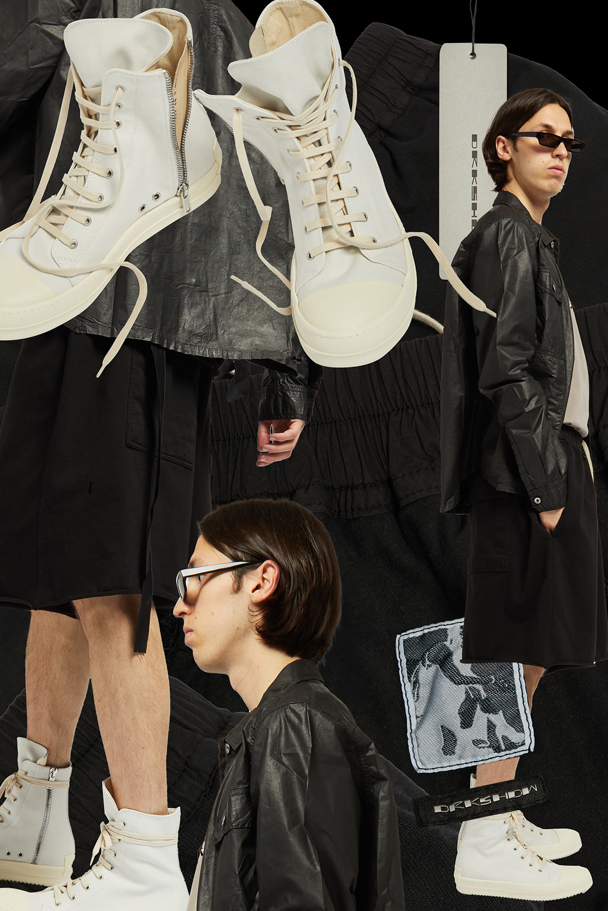 Curated 008 | Short-Stock - Model wears Rick Owens DRKSHDW Faun Midweight Jersey Short