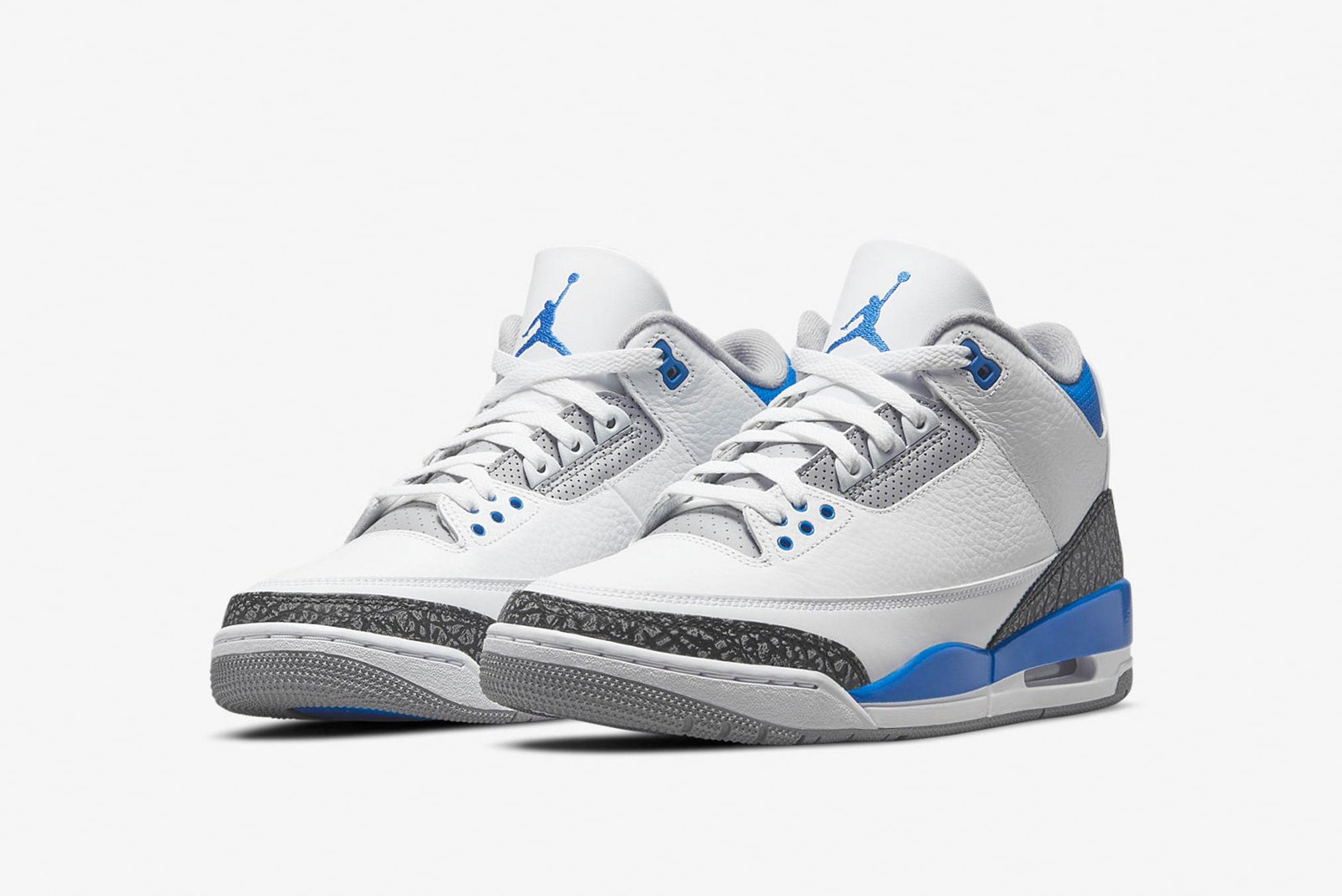 "Air Jordan 3 Retro ""Racer Blue"" - CT8532-145"