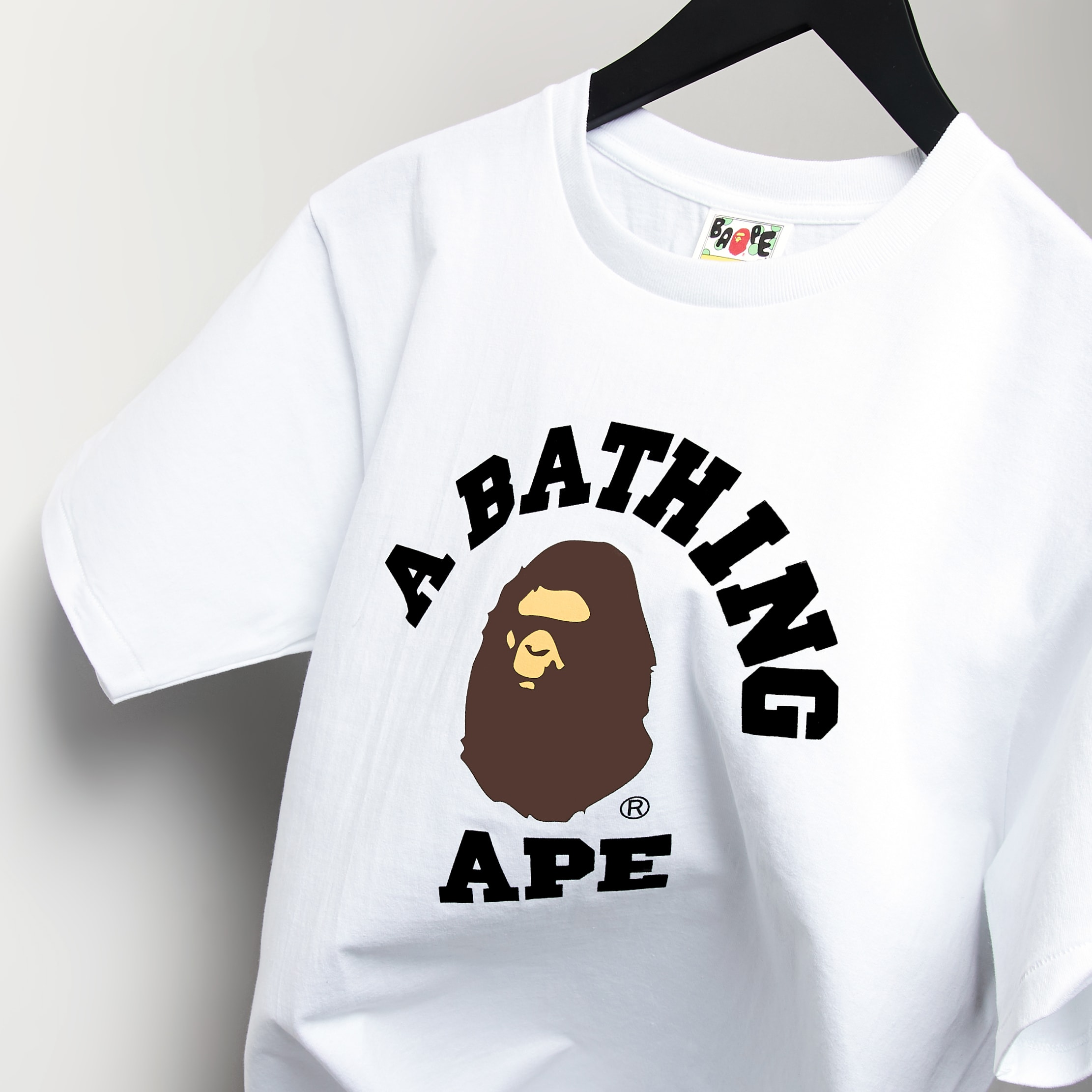 A Bathing Ape College Tee - 1F30110001-WH