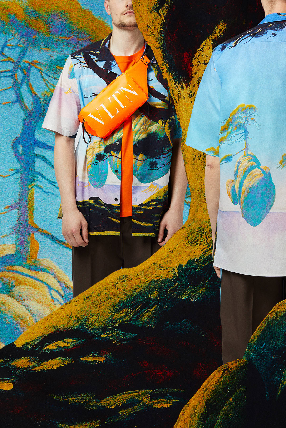 Curated 001 | Escapism - Model Wears: Valentino x Roger Dean Floating Island Vacation Shirt