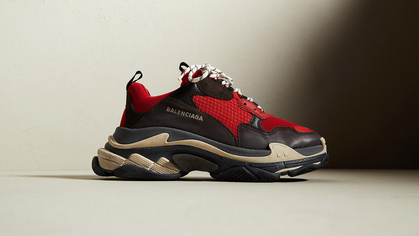 END. Features | Balenciaga Triple S 'Black & Red' Now