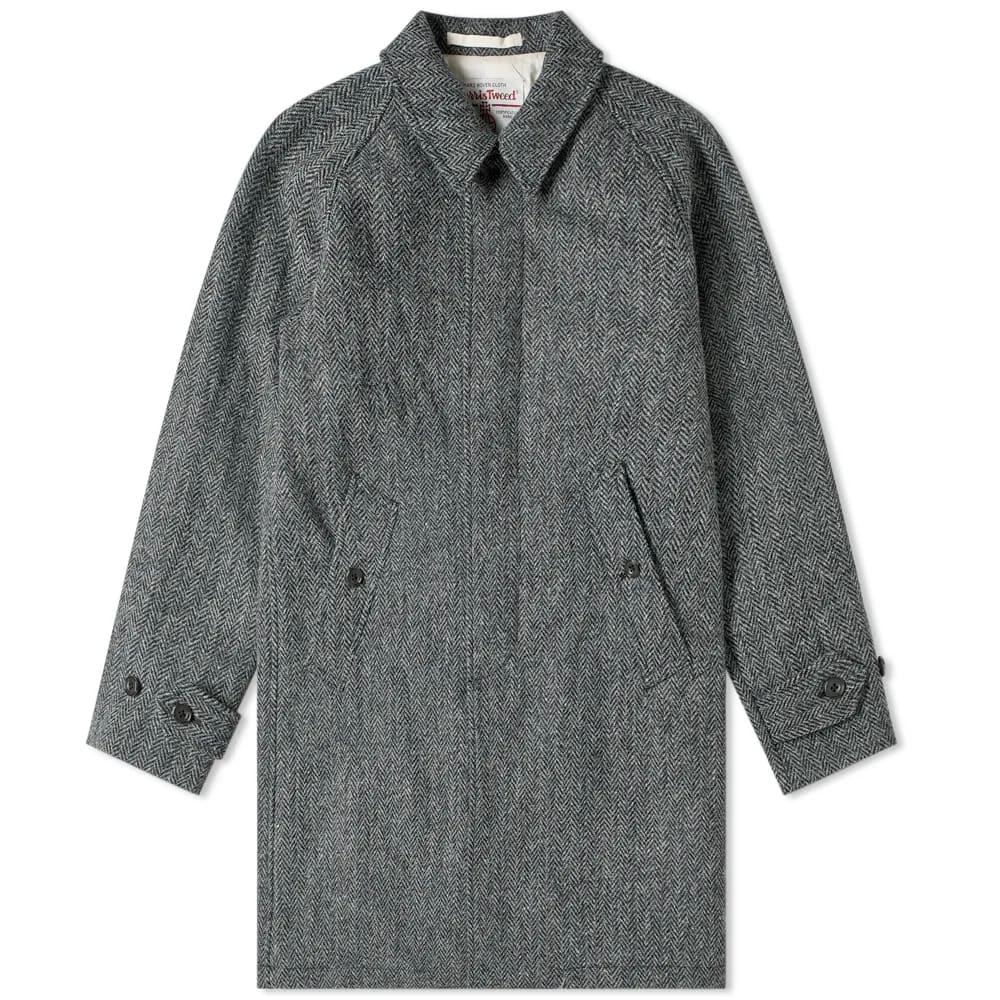 Beams Plus Harris Tweed Balmacaan Coat