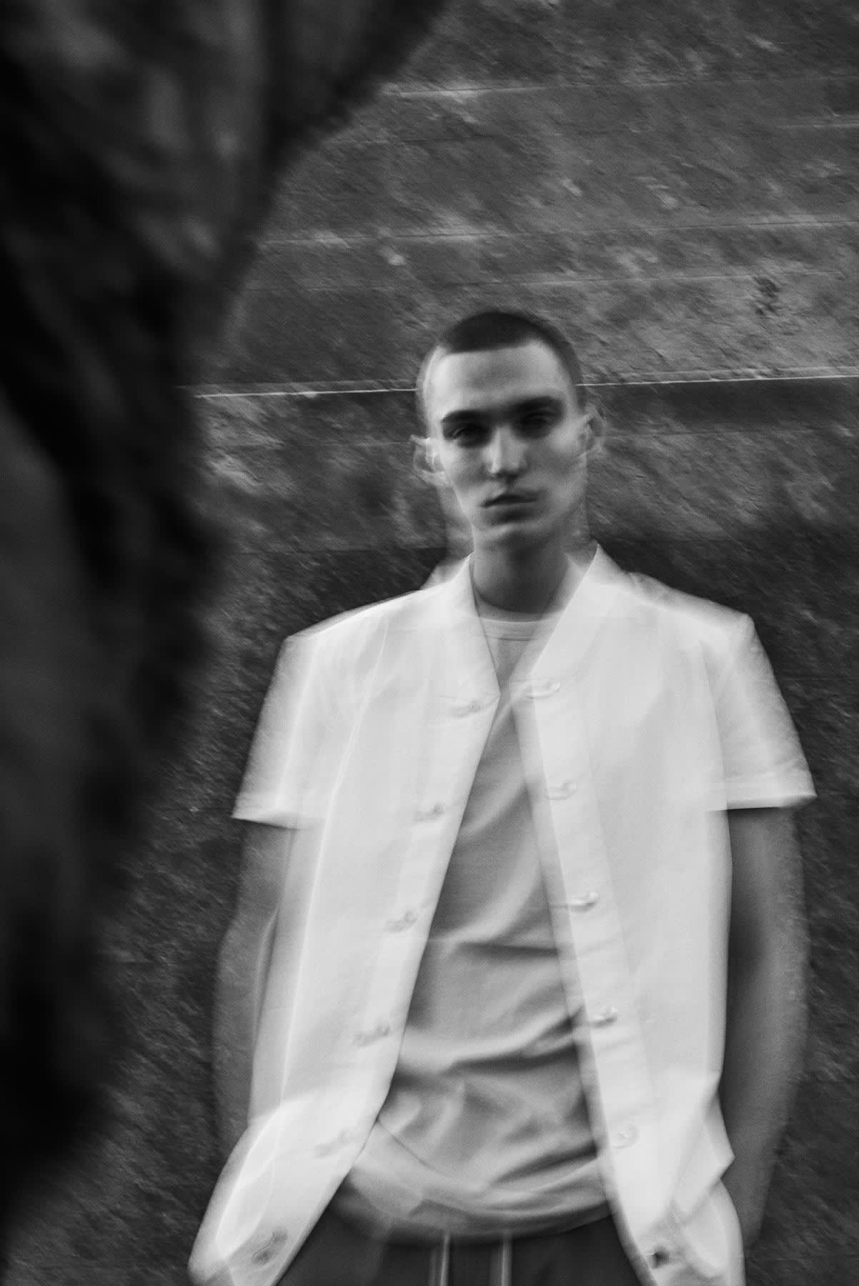 END. editorial for Rick Owens SS20 featuring the short sleeve vacation shirt