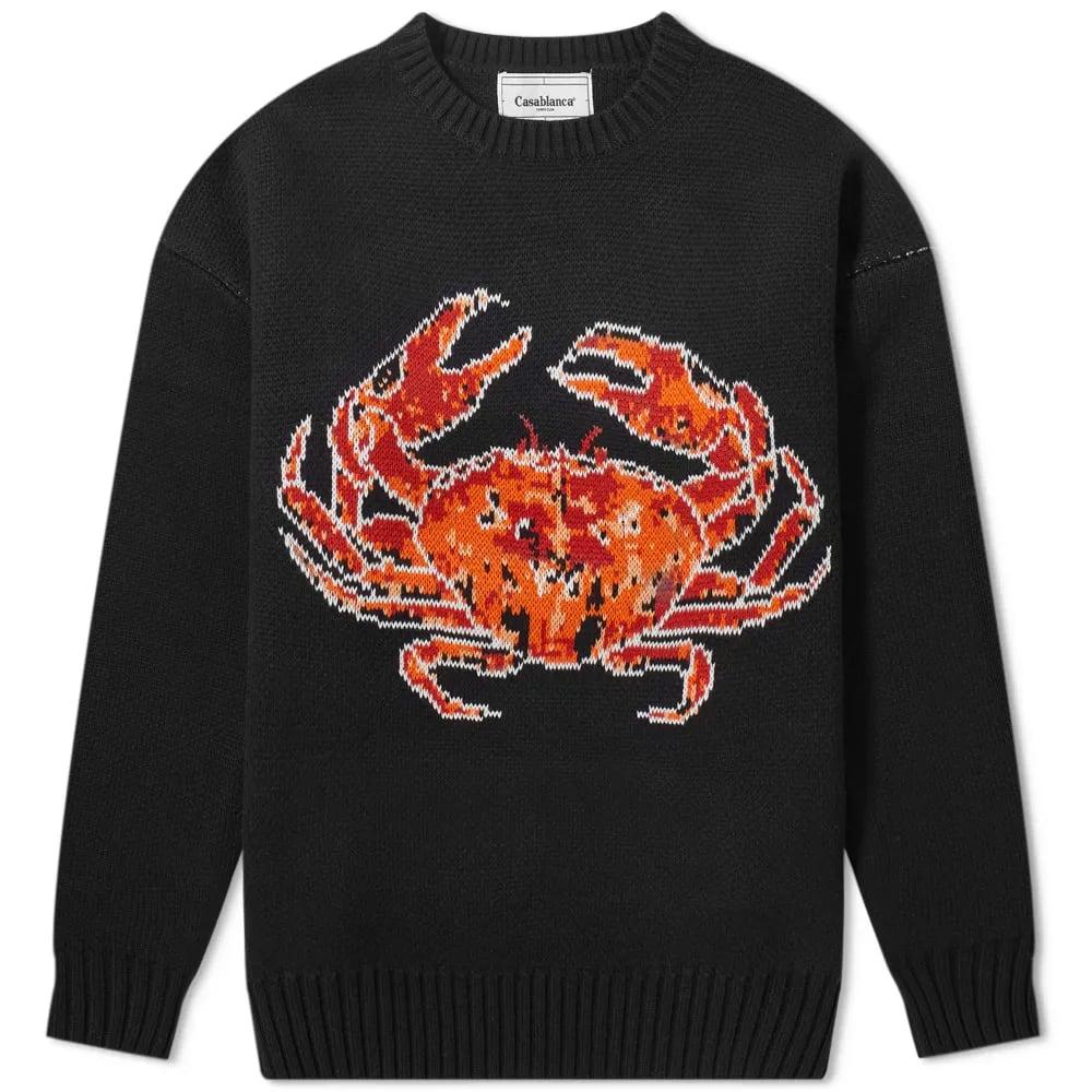 Casablanca Crab Crew Knit