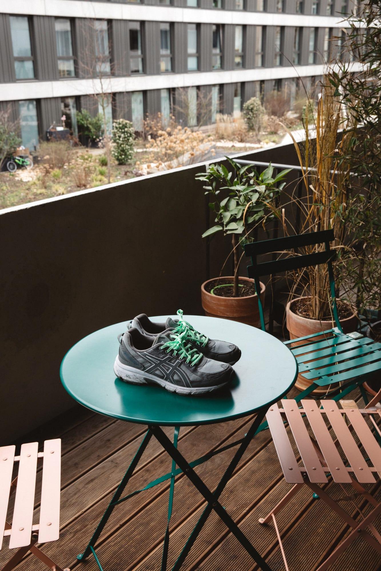 Flight Case Sneakers: Fabian Gorsler at Home in Berlin, image features ASICS x Harmony GEL-Venture 6
