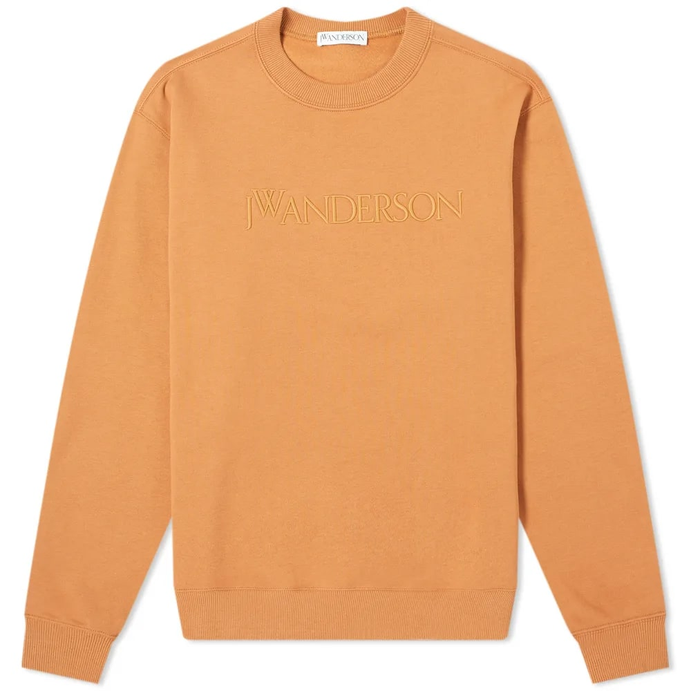 JW Anderson Logo Embroidered Crew Sweat