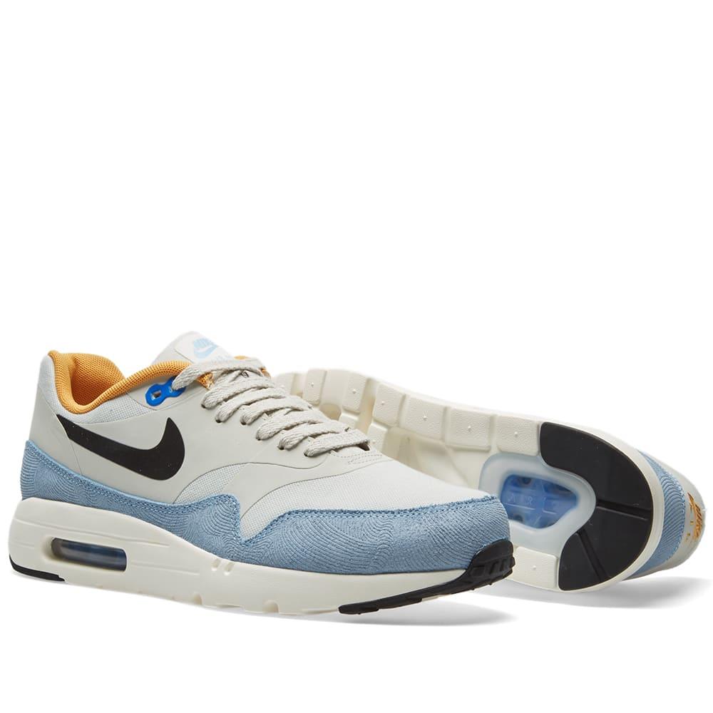 detailed look 19ef9 0dea2 Nike Air Max 1 Ultra Essential. Light Bone   Hyper Cobalt