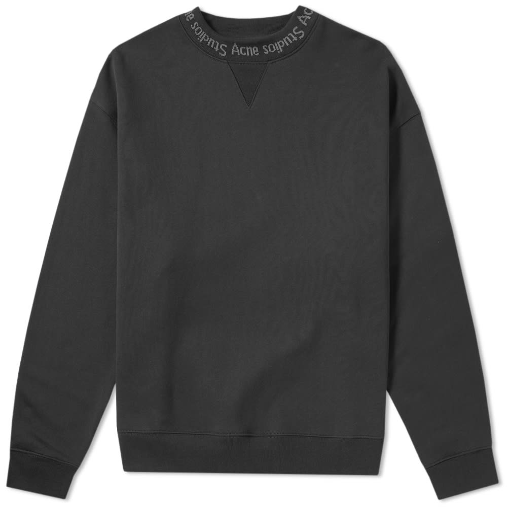 Acne Studios Flogho Neck Logo Crew Sweat by Acne Studios'