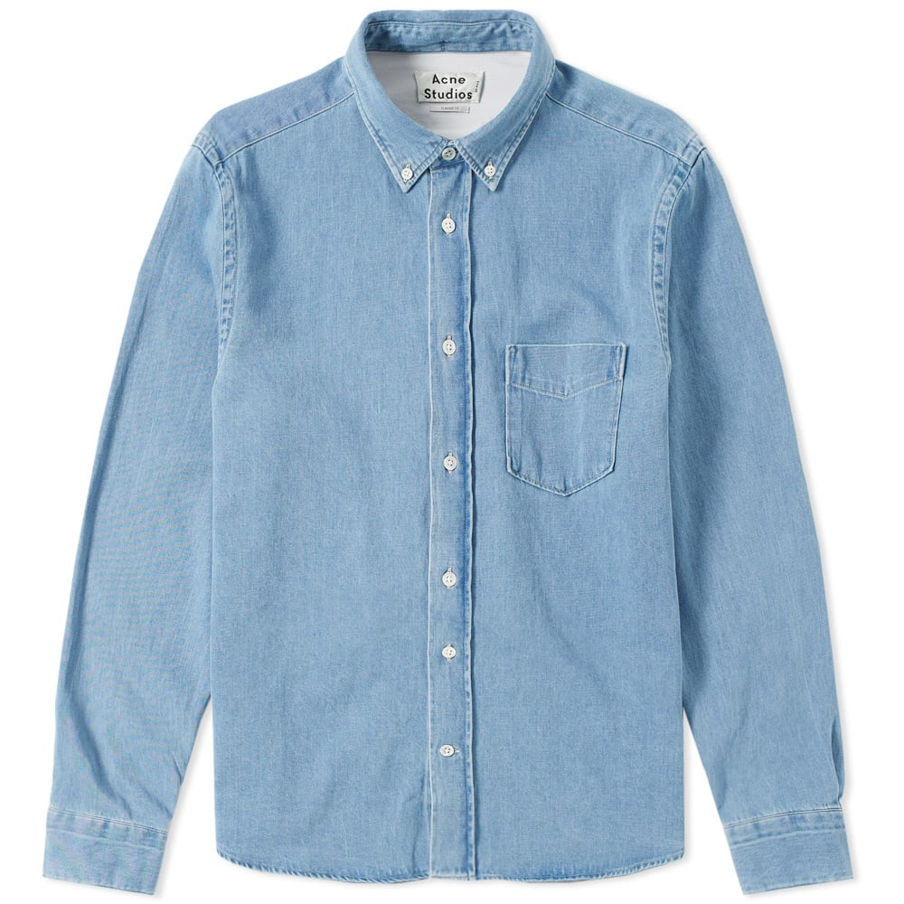 b15cded3c07 Acne Studios Isherwood Denim Shirt Washed Denim