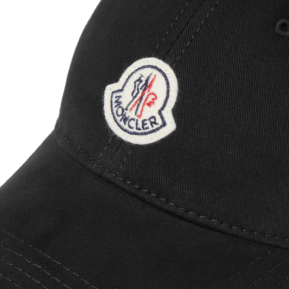 6c586541334 Moncler Logo Baseball Cap Black