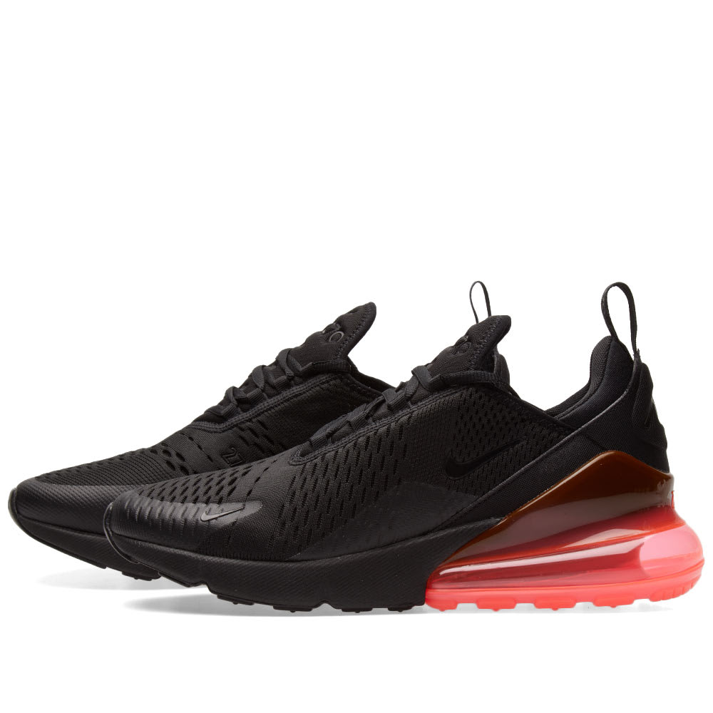 fae45cf07ff Nike Air Max 270 Black   Hot Punch