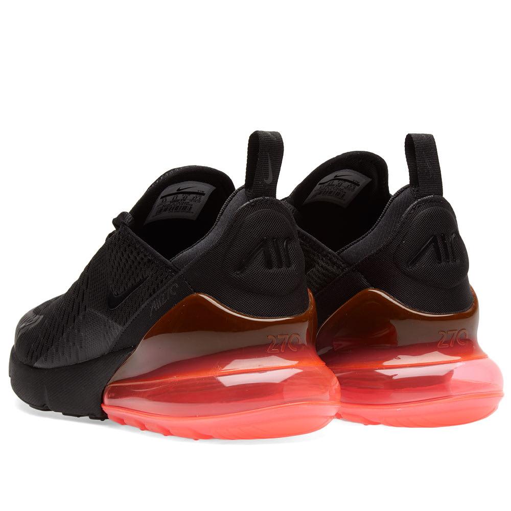 7d2494a1572 Nike Air Max 270 Black   Hot Punch