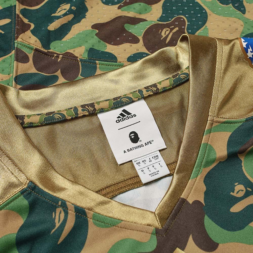 e1a6eb65467dd Adidas x BAPE Jersey Green Camo | END.