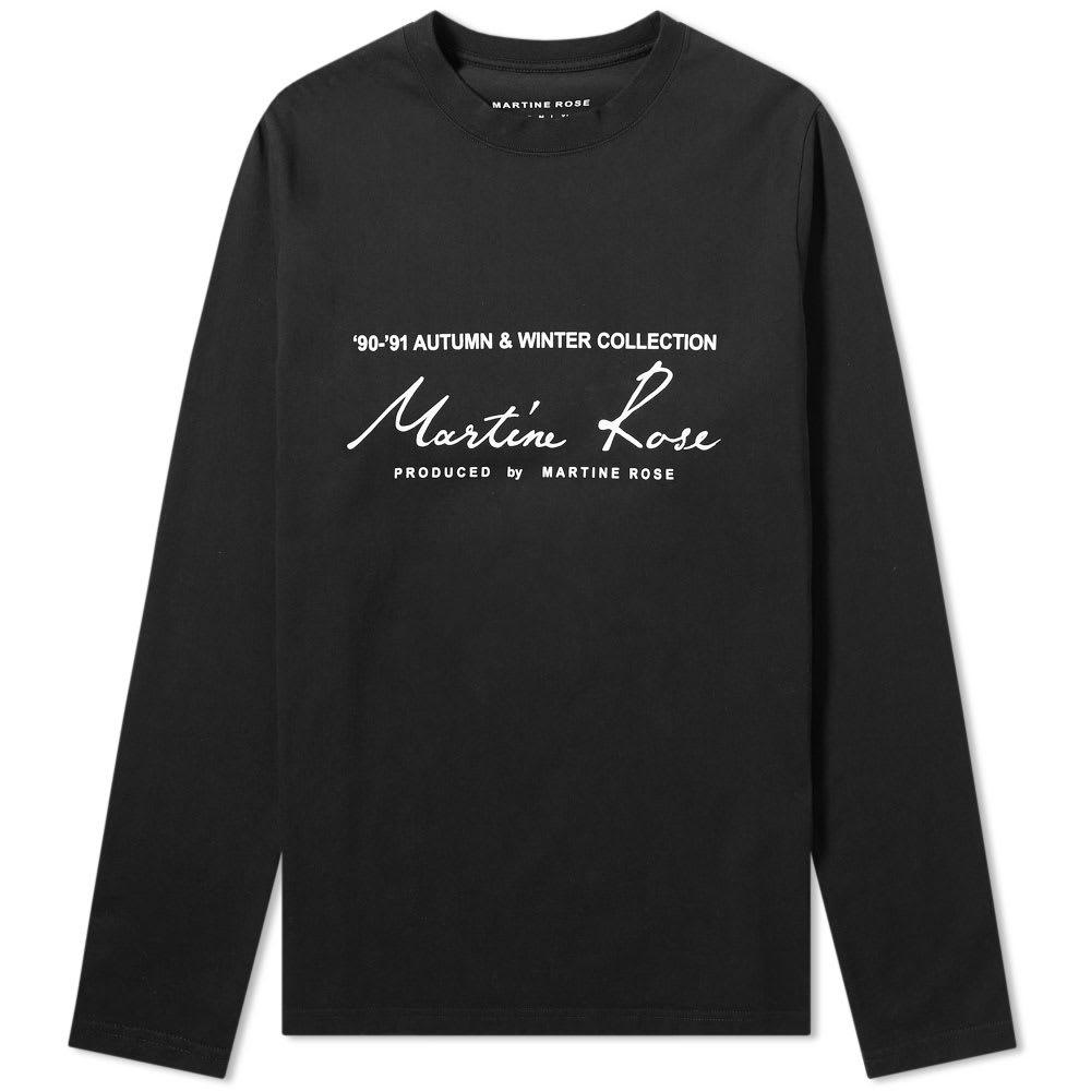 Martine Rose Long Sleeve Logo Tee