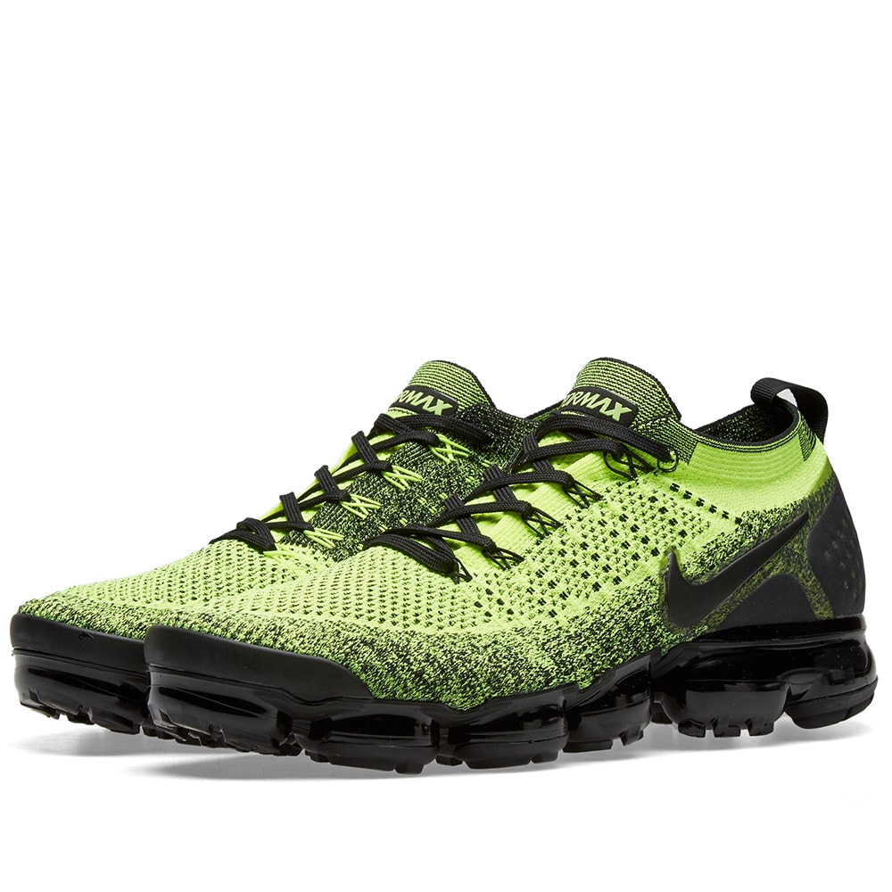 e9fff162981b3 Nike Air VaporMax Flyknit 2 Volt & Black | END.