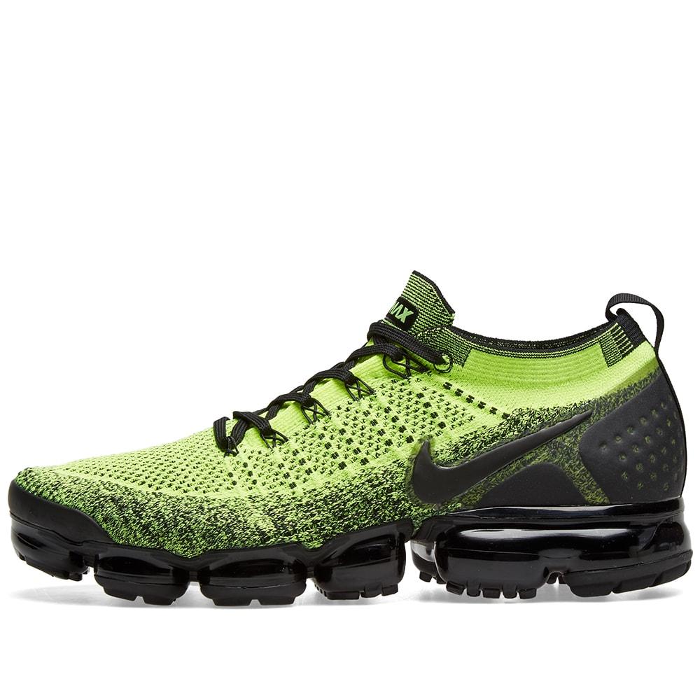 bb8ca234697ac Nike Air VaporMax Flyknit 2 Volt   Black