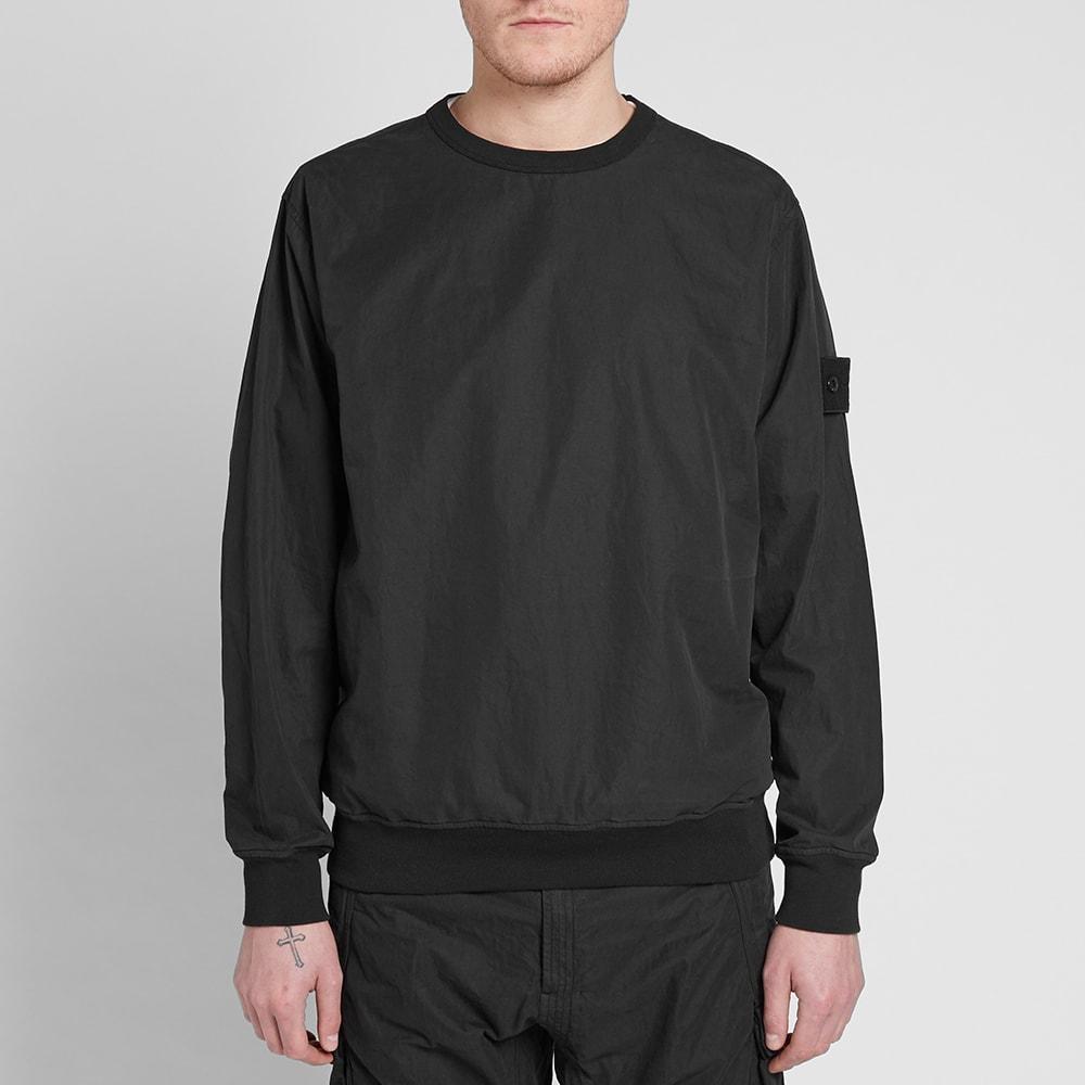 52ae6edaa21d9 Stone Island Ghost Resin Cotton Sweatshirt Black | END.