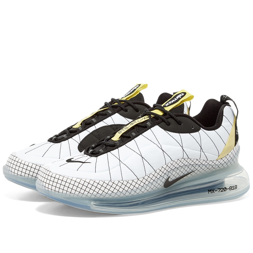 Nike Max 720 818 White Black Yellow End