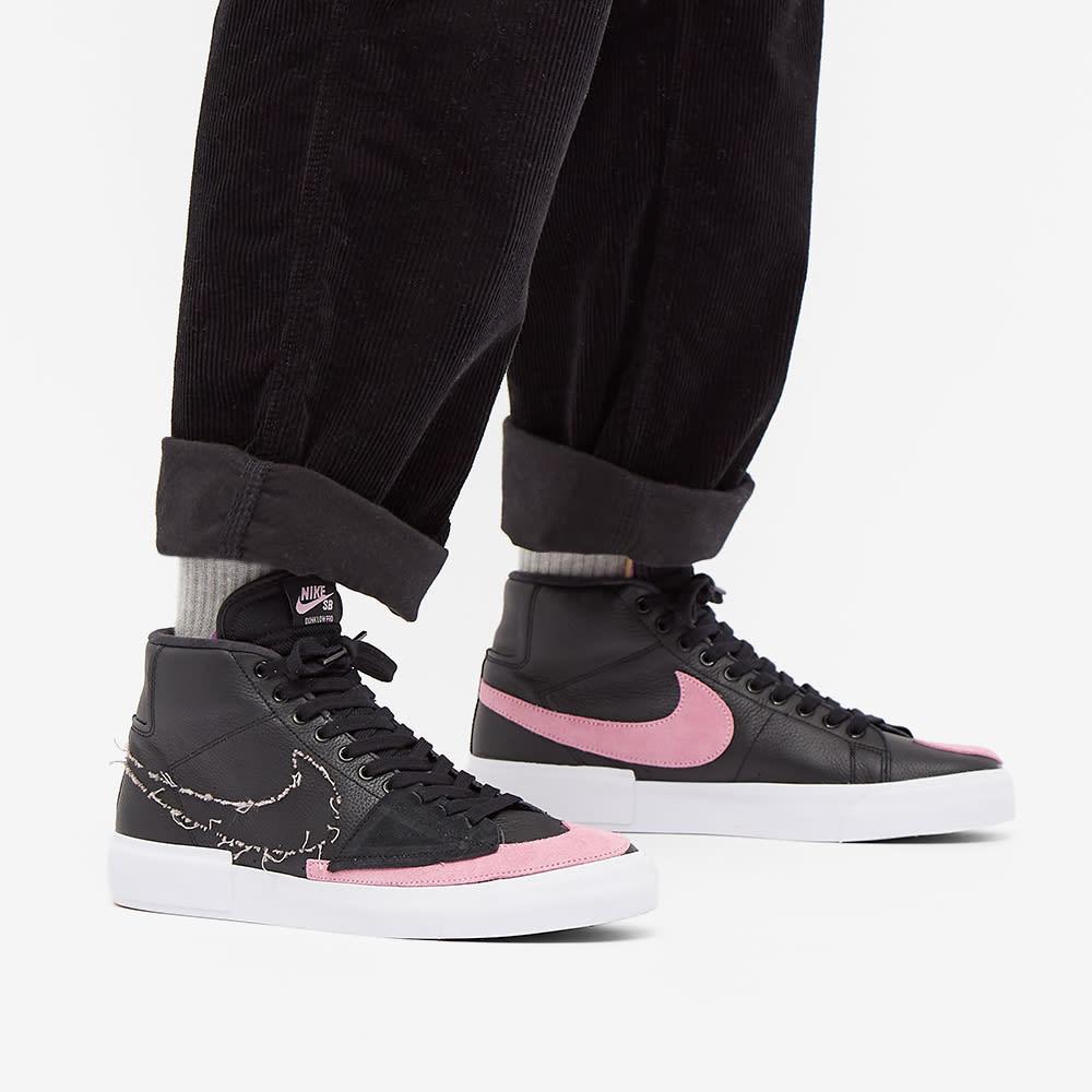nike sb zoom blazer mid edge black pink