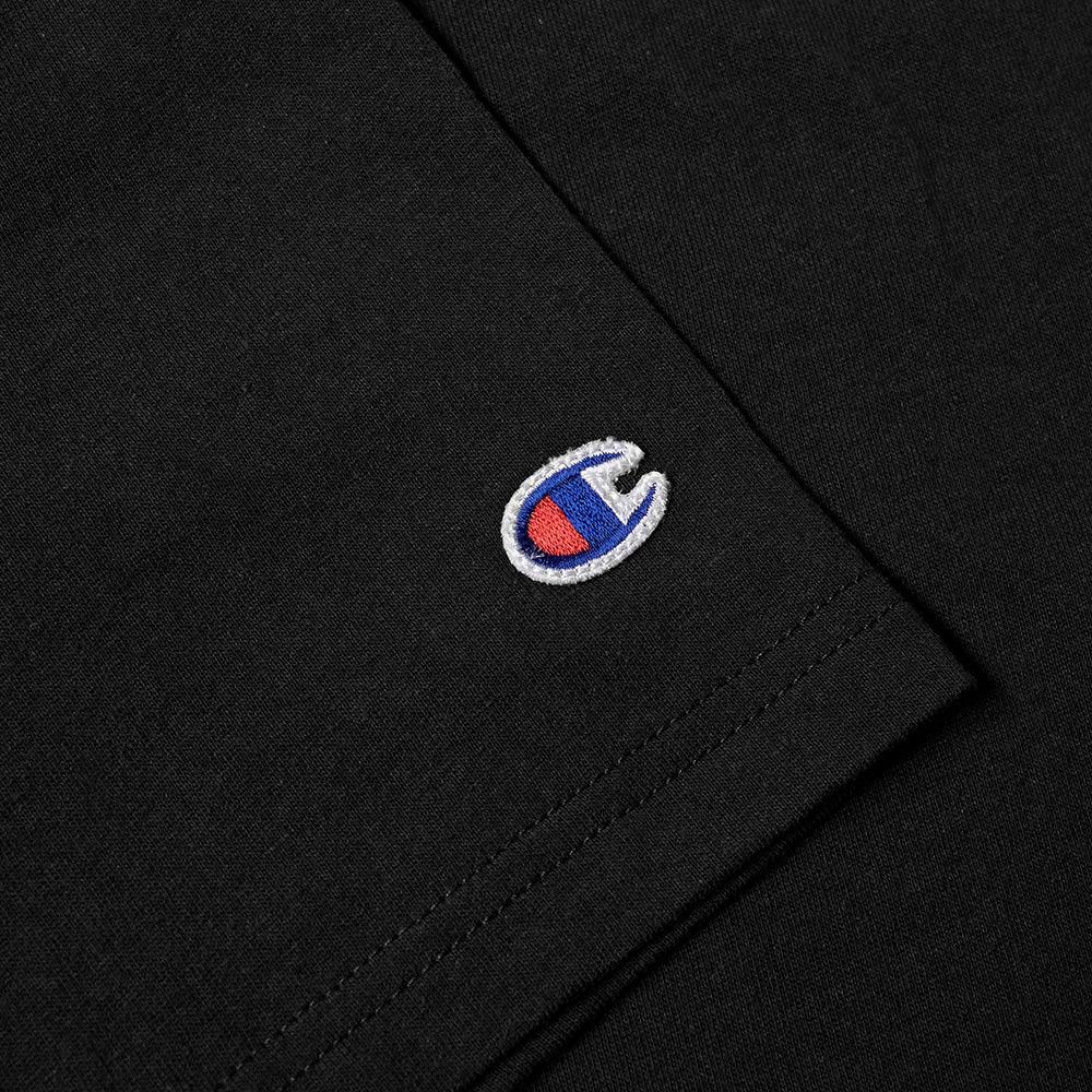 44cdfa44938f Champion Reverse Weave Embroidered Script Logo Tee Black   END.