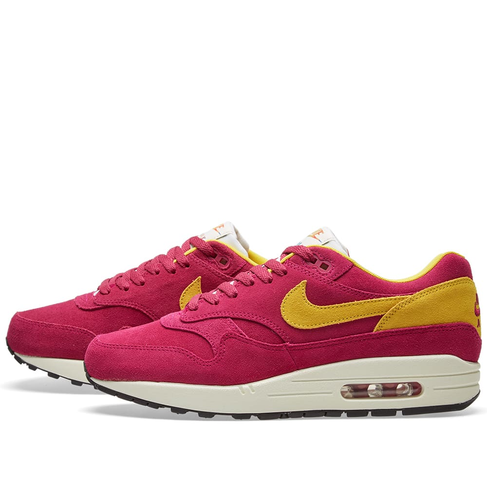 the latest 66173 dedd9 Nike Air Max 1 Premium Dynamic Berry   Vivid Sulfur   END.