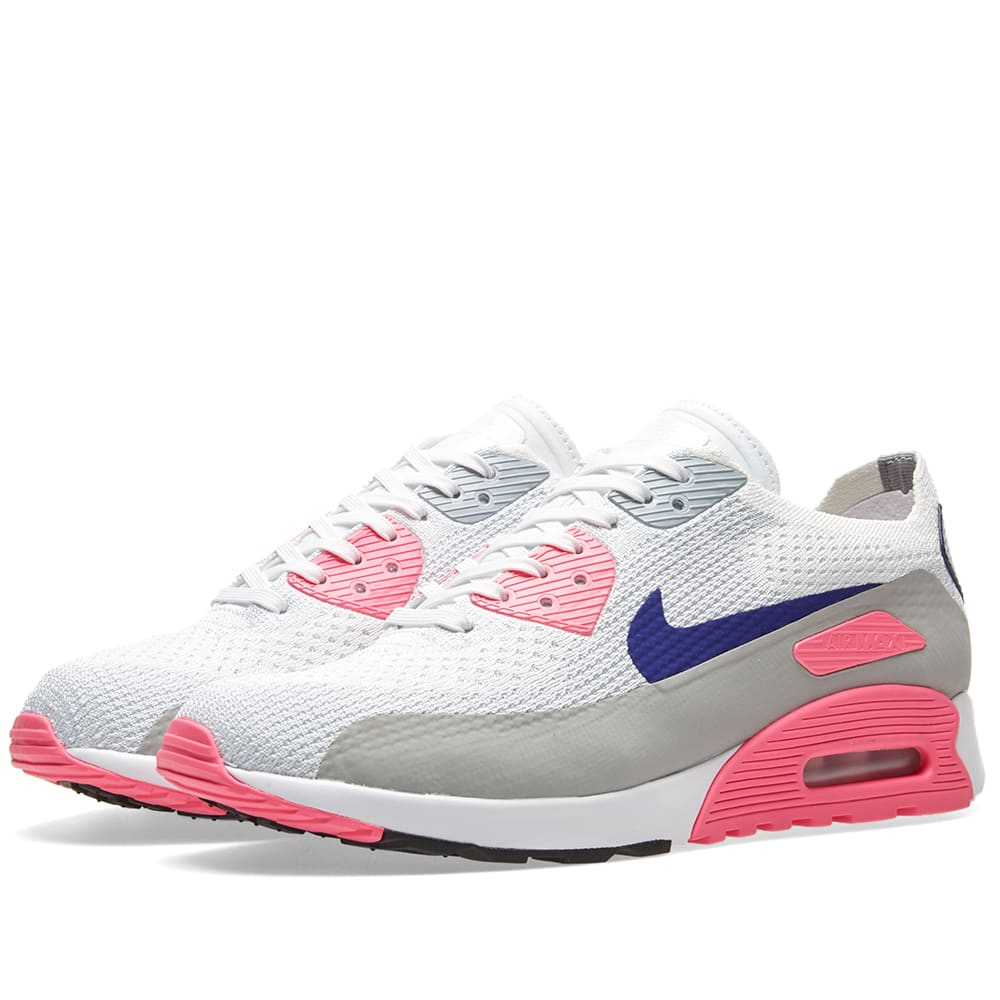 huge selection of ba90a 02cee Nike W Air Max 90 Ultra 2.0 Flyknit White, Concord   Laser Pink   END.