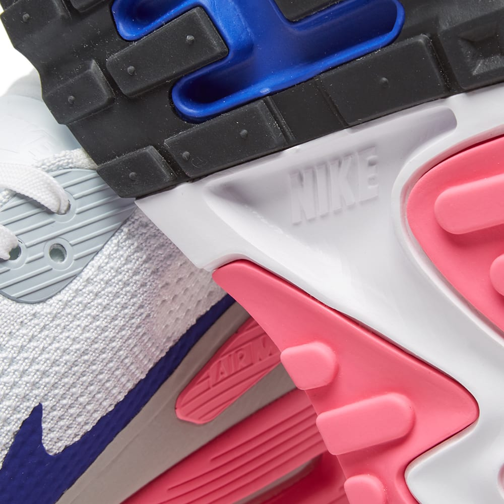 huge selection of 660c5 d5d5b Nike W Air Max 90 Ultra 2.0 Flyknit White, Concord   Laser Pink   END.