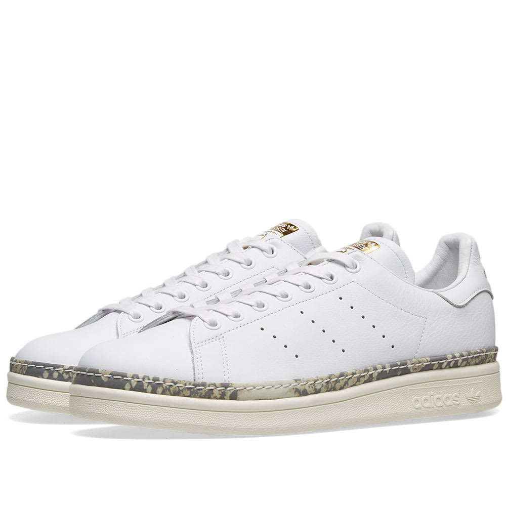 desastre global amortiguar  Adidas Stan Smith New Bold W White, Off White & Bold | END.