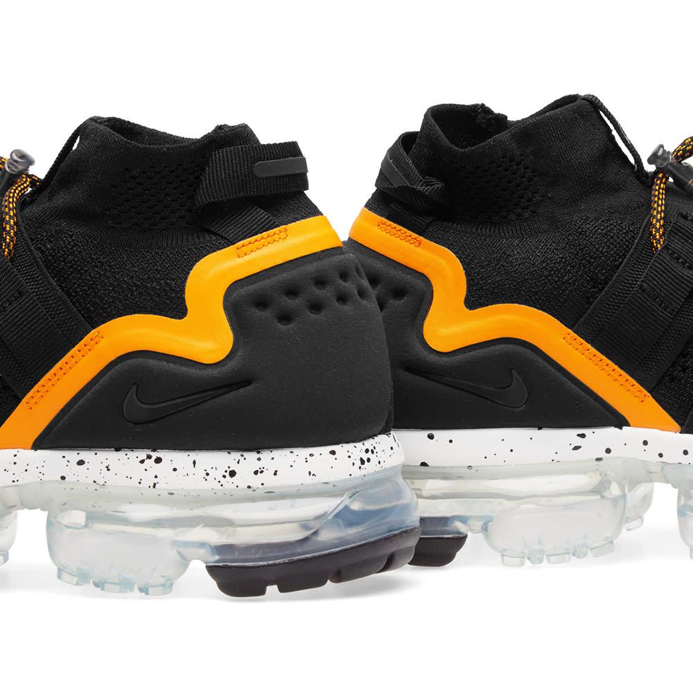 6df5b21b5763 Nike Air VaporMax Flyknit Utility Black   Orange Peel
