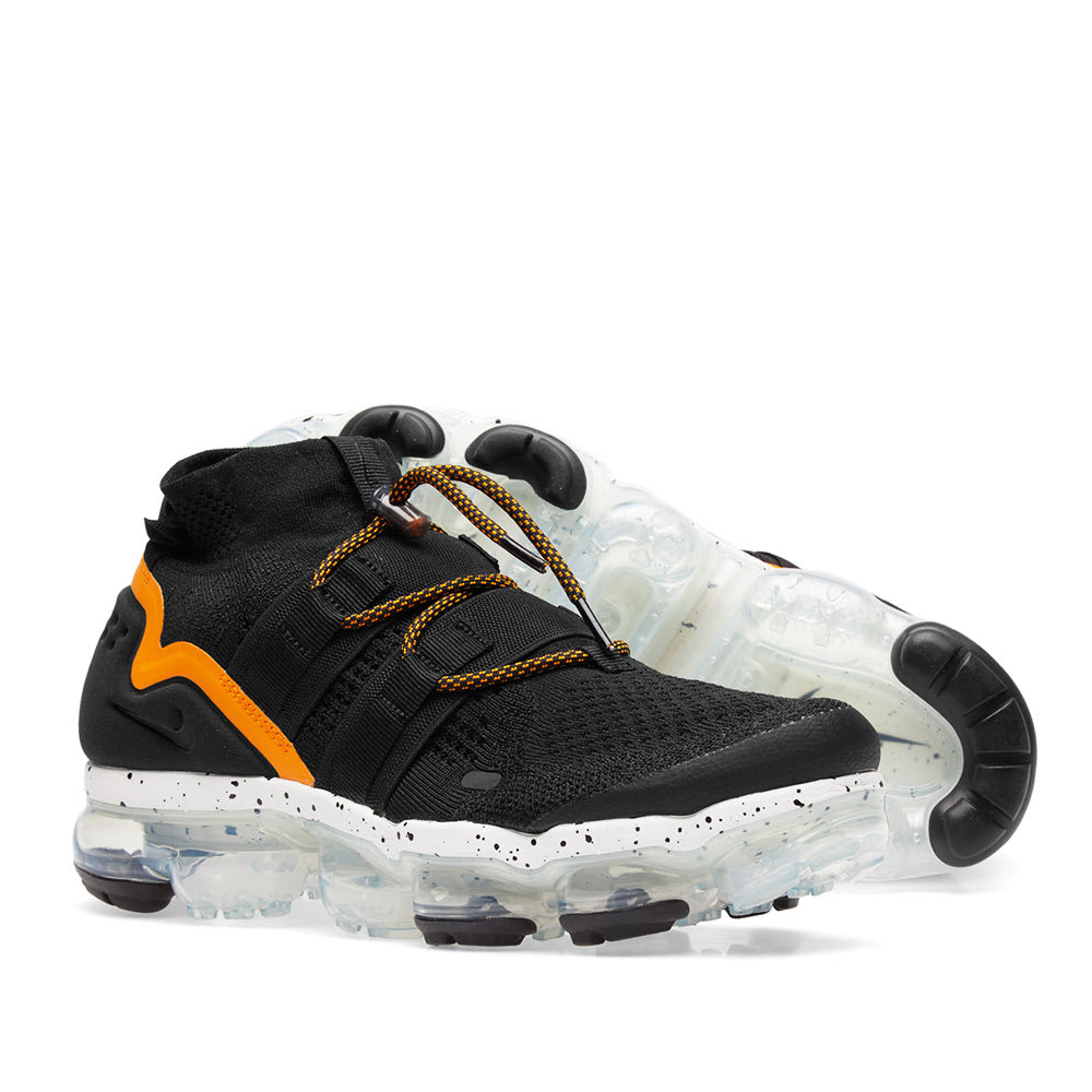 725be5efb6e Nike Air VaporMax Flyknit Utility Black   Orange Peel