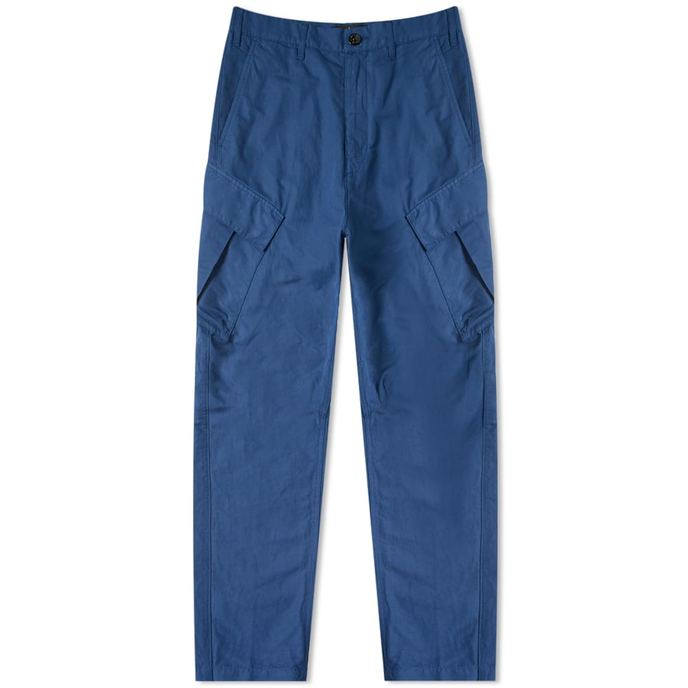 75f9599556 Stone Island Shadow Project Tie Up Cargo Pant Blue | END.