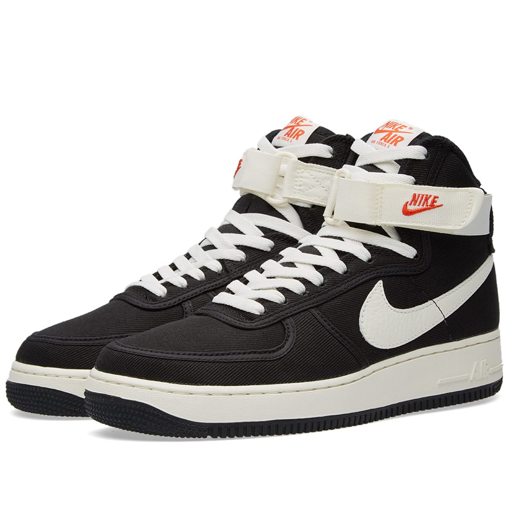 nike air force 1 high retro black sail. Black Bedroom Furniture Sets. Home Design Ideas