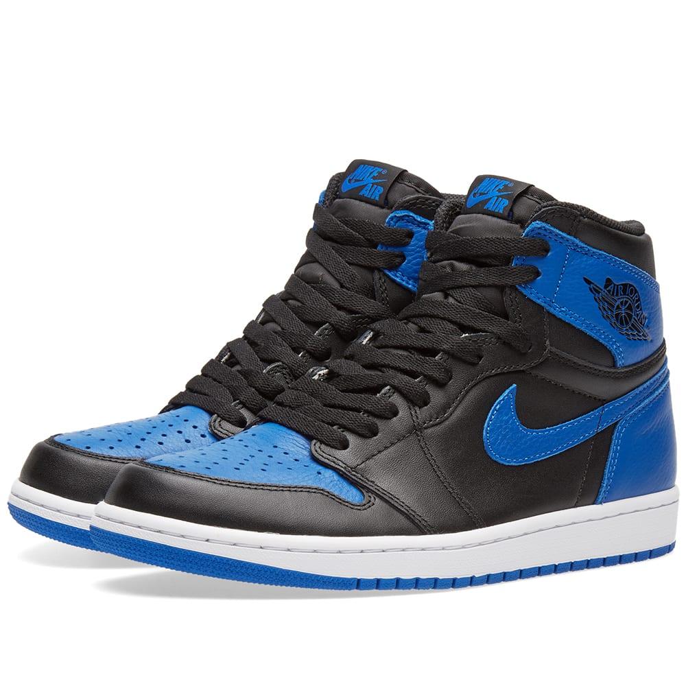 separation shoes e10a2 f3de9 Nike Air Jordan 1 Retro High OG Black   Royal White   END.