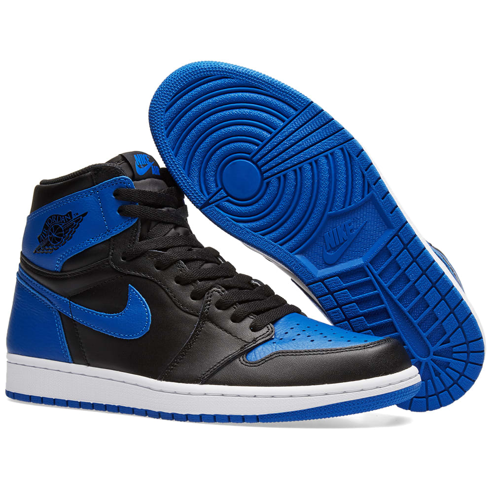 on sale 6232e 396fa Nike Air Jordan 1 Retro High OG. Black   Royal White