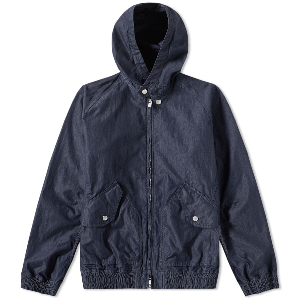 NONNATIVE Nonnative Trainer Hooded Jacket in Blue