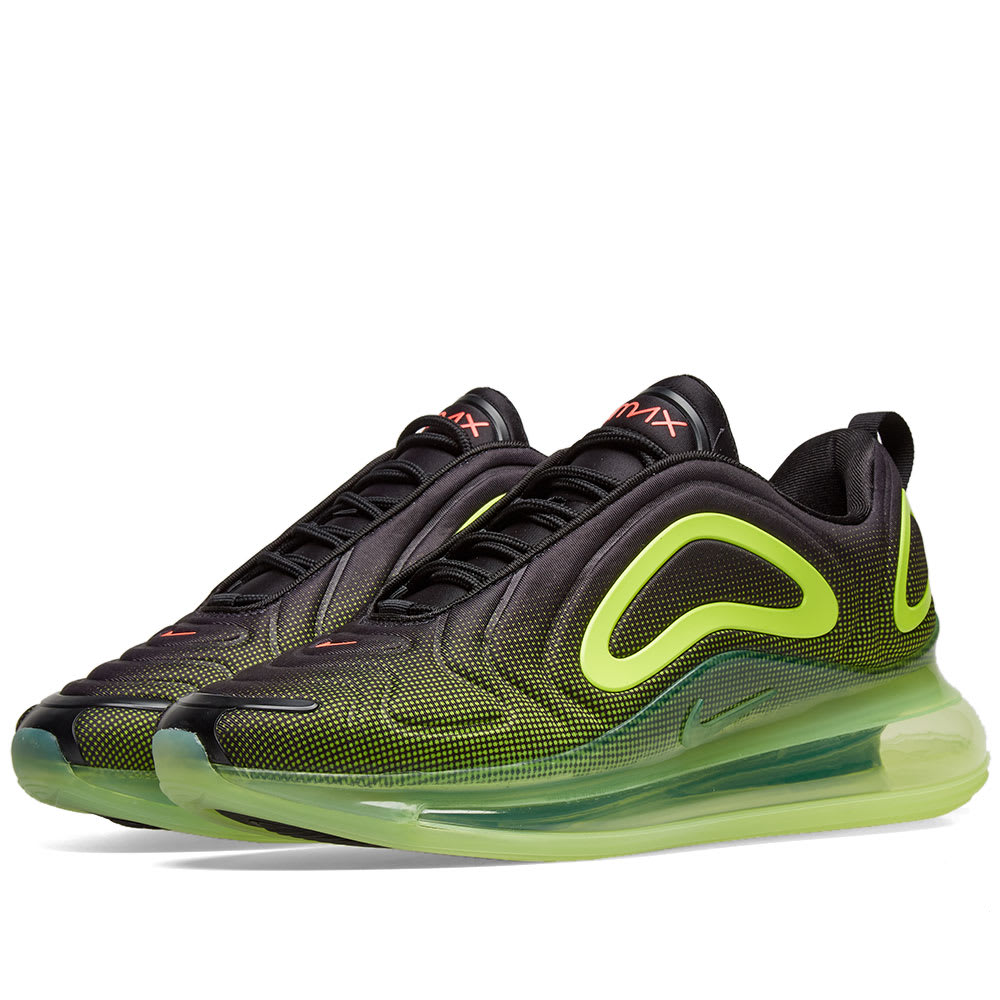 1542de8df0 Nike Air Max 720 Black, Crimson & Volt | END.