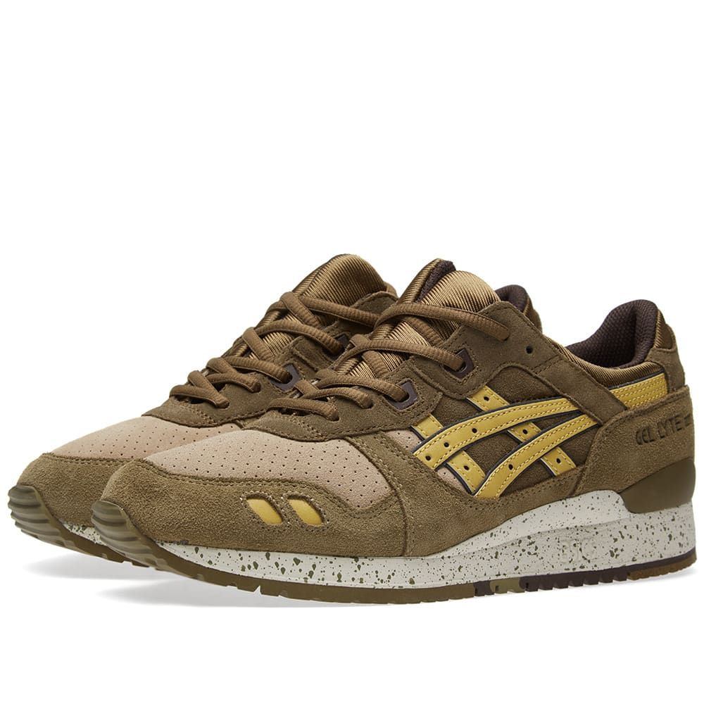 veredicto Mujer Proverbio  Asics Gel Lyte III 'Turtle' Olive & Sunshine | END.