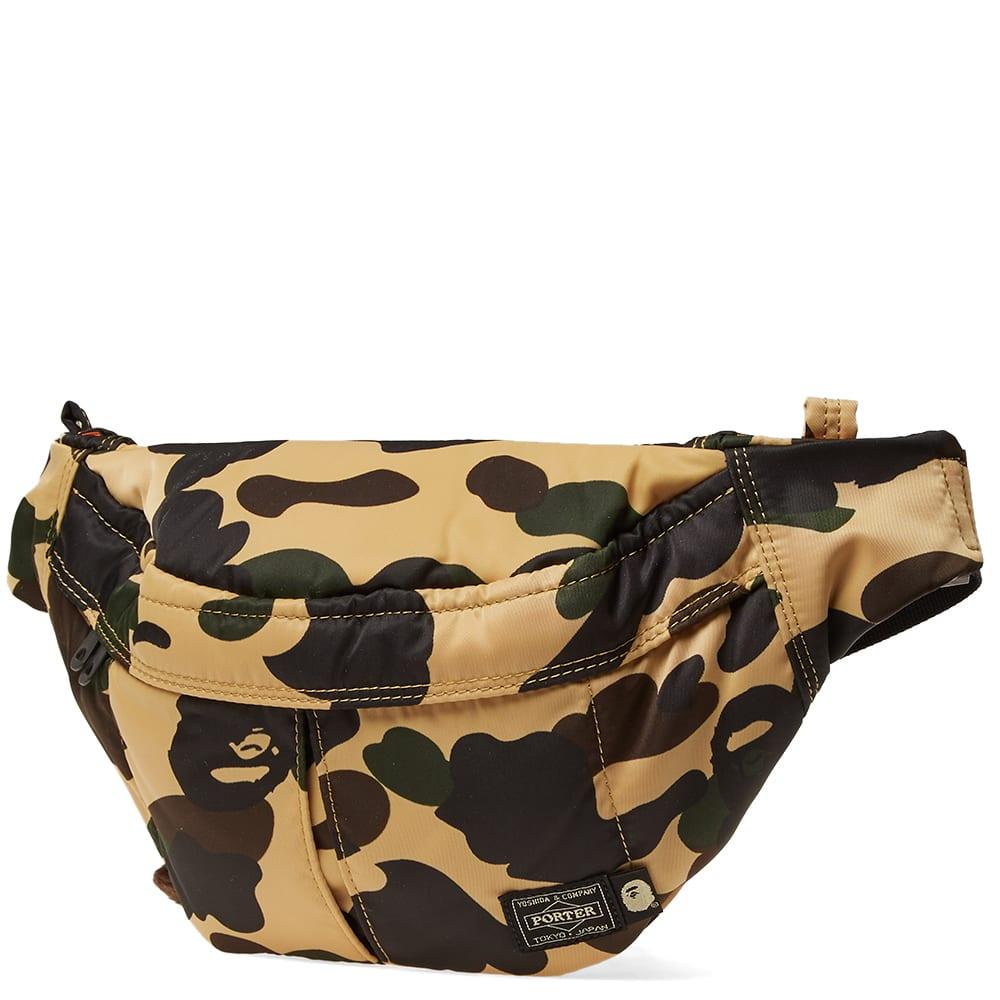c67a6e77 A Bathing Ape x Porter 1st Camo Waist Bag Yellow | END.