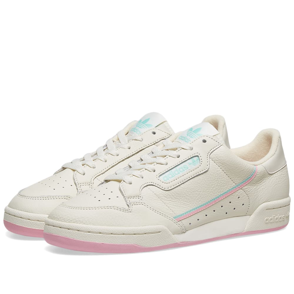 Adidas Continental 80 Off White, Pink
