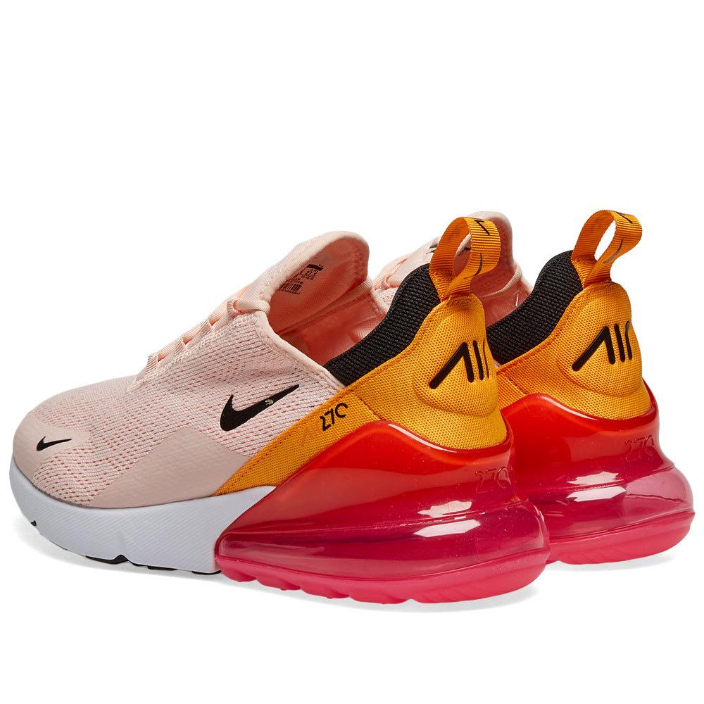 nike air max 270 pink and orange