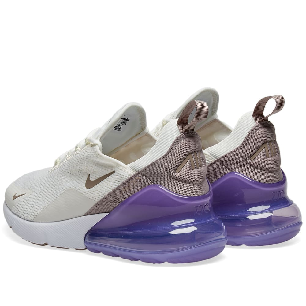 size 40 d167c 5bfd3 Nike Air Max 270 W. Sail, Pumice   Space Purple