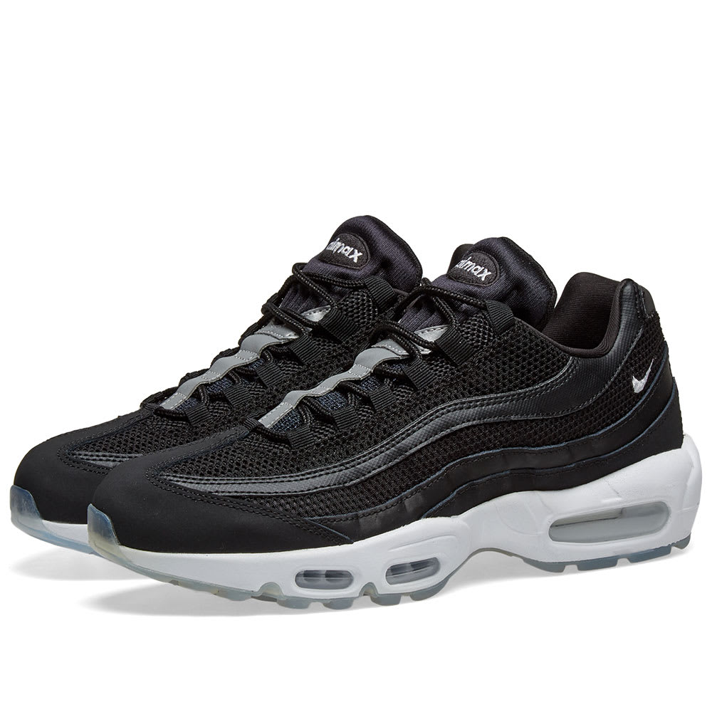 the best attitude f03a3 37b23 Nike Air Max 95 Essential Black, White   Reflect Silver   END.